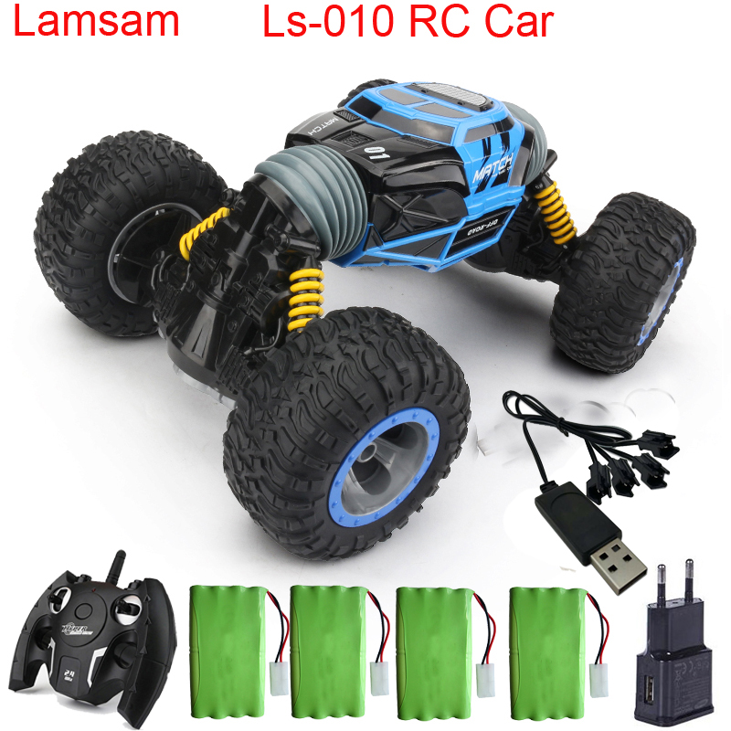 RC Car 4WD Truck Scale Double-sided 2.4GHz One Key Transformation All-terrain Vehicle Varanid Climbing Car Remote Control Toy