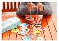 Estanho em caixa criança de madeira brinquedos de pesca de ferro magnético jogos divertidos brinquedos educacionais do bebê