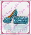 Aidocrystal новый продукт летняя обувь и сопоставления сумки сцепления озеро синий 10 см высокие каблуки свадебные туфли и сумки, чтобы соответствовать женщины