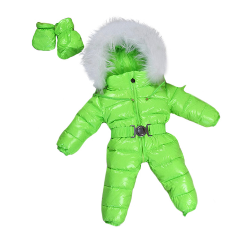 Baby Snowsuits Hooded Jumpsuit White Duck Down Jackets For Boys Girls Winter Snow Coats Kids Clothes Infantil Thicken Rompers baby snowsuits hooded jumpsuit white duck down jackets for boys girls winter snow coats kids clothes infantil thicken rompers