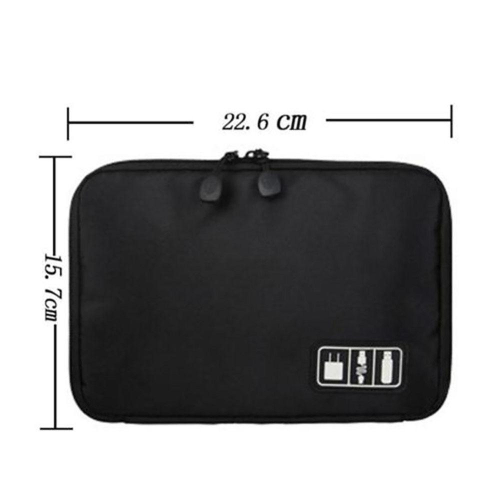 Waterproof Double Layer Travel Wire Storage Bag Electronic Accessories Tool  Pouch Organizer Hard Drive Pen Data Cable bags-in Storage Bags from Home ...