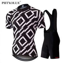 Phtxolue Cycling Set 100% Polyester MTB Bike Clothing Maillot Bicycle Clothes Wear Racing Jersey