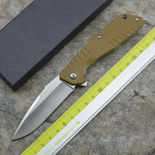 NEW Tuan Yu Flipper folding knife D2 blade G10 handle Outdoor camping hunting pocket fruit knives EDC tools(China)