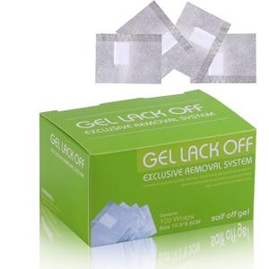 Image 2 - Venta al por mayor de alta calidad 100 Uds. 200 Uds Nail Art Polish Removal  FOIL GEL WRAPS REMOVER SOAK OFF acrílico, 10,5*8,5 CM/Uds