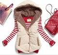 Sra. chaleco de terciopelo de coral Hot new moda salvaje chaleco de algodón con capucha chaleco mujeres chaleco de algodón sin mangas chaleco