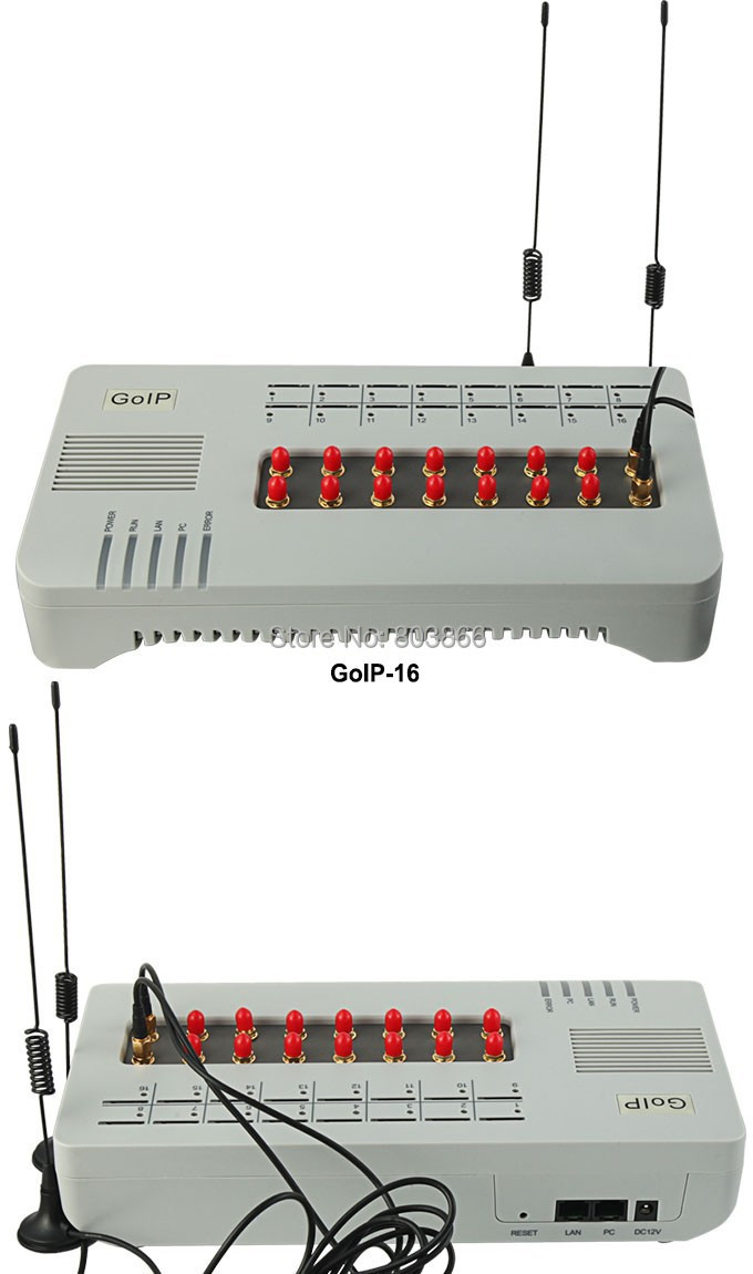 GSM VOIP gateway with 16 sim cards GOIP 16  IMEI change support sim bank ( with short antennas)-in VoIP Gateway from Computer & Office    2