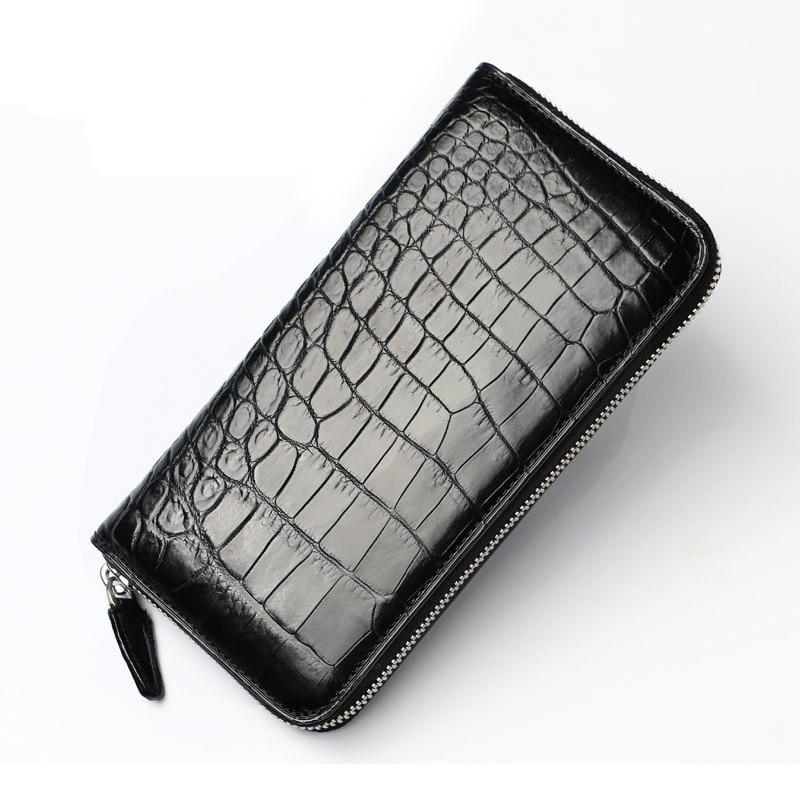2018 Classical Designer Exotic Genuine Crocodile Skin Alligator Leather Men s Long Card Holder Wallet Male