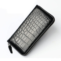 2018 Classical Designer Exotic Genuine Crocodile Skin Alligator Leather Men's Long Card Holder Wallet Male Large Clutch Purse