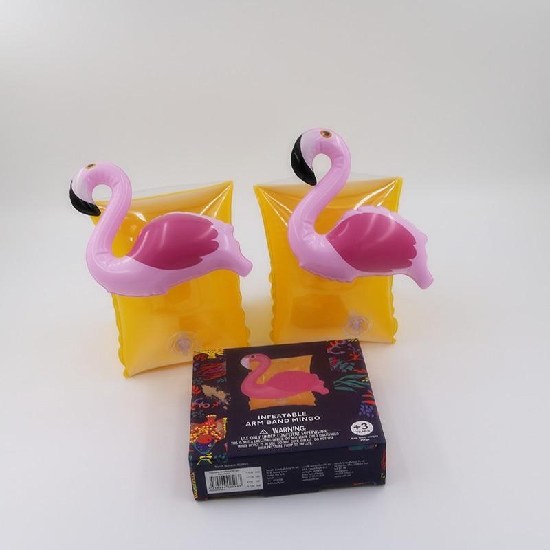 Купить с кэшбэком Baby Arm Swimming Ring Child Inflatable Pool Float Swimming Flamingo Crab Arm Ring Safety Training Swimming Circle Float Ring