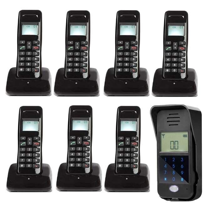 FäHig Mountainone Neue Arrivial Drahtlose Digitale Audiio Tür Telefon Passwort Entsperren/intercom System Für 7-wohnungen Mild And Mellow Türsprechstelle