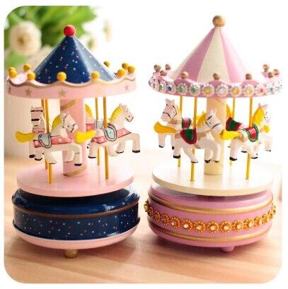 Good Birthday Gift For Friends Sankyo Carousel Music Box Free Shipping