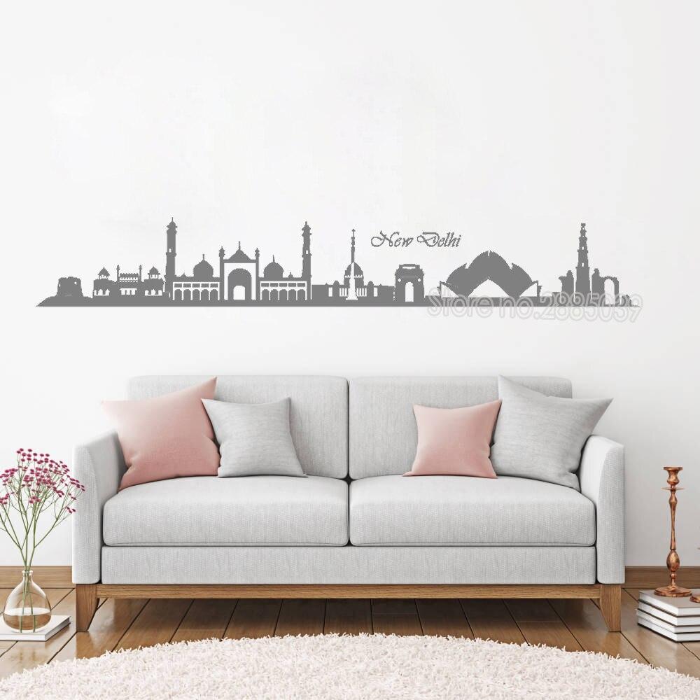 wonderful skyline of new delhi wall sticker newly arrivals vinyl