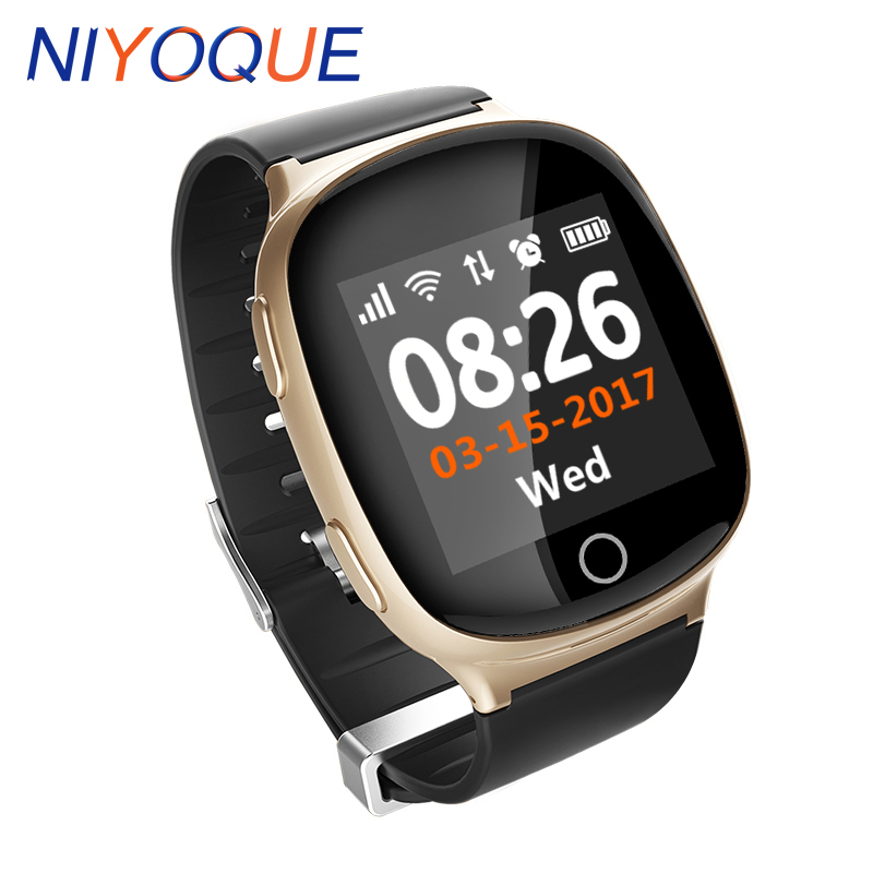 D100 Smart Watch GPS LBS WIFI Positioning Anti lost Heart Rate monitor Sports Tracker Alarm SOS