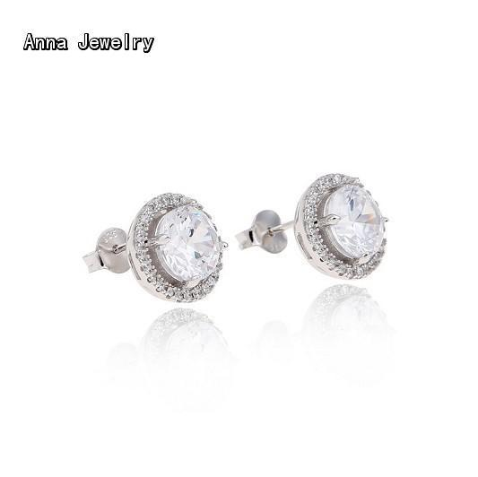 2016 Finest Designer WEDDING EARRING,In Solid 925 Sterling Silver,With Full Stones Embellish,Charming Earring Jewelry For Bride