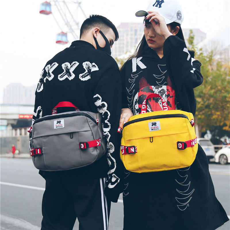 Unisex Waist Bag Fanny Pack Large Capacity Chest Bags Bum Package Street Style Hip Hop Packs Solid Color Oxford Cloth Handbag