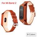 Mi Banda 2 Classic Leather Strap Substituição Colorido Banda Inteligente Pulseira Relógio Banda Para Original Xiaomi Miband 2 2 Pulseiras