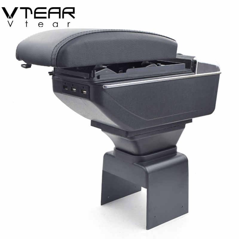 Vtear para Peugeot 307 caja de reposabrazos interfaz de carga USB aumento central de la caja de contenido de la tienda