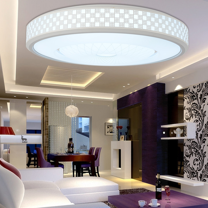 LED Modern Ceiling Light Creative Round White Living Room Lamp 110v-220v Bedroom Lighting Stylish Apartments Ceiling Lamps color splicing inclined zipper beam feet harem pants