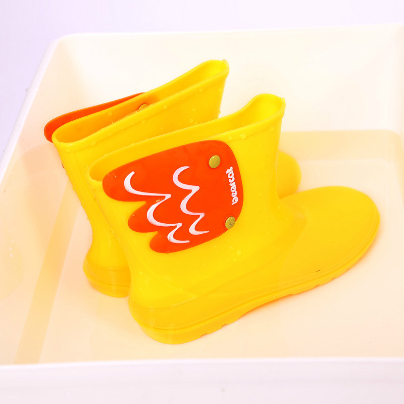 Children Toddler Wing Fly Rain Boots Winter Warm Solid Pure Color Cartoon Waterproof Antiskid Slip-on Boots ...