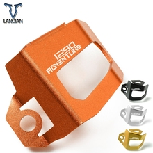 Motorcycle Accessories Rear Brake Fluid Reservoir Guard Protection Cap Cover Protect Covers For KTM Adventure 1290 2015 2016