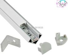 10 Bộ/lô 30 Bằng Góc Anodized LED nhôm hồ sơ AL6063 Nhôm led hồ sơ LED Kênh hồ sơ cho ánh sáng Nội Các