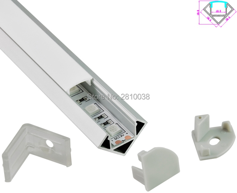 10 setova / lot 30 stupnjeva kut anodizirani LED aluminijski profil - LED Rasvjeta