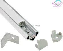 10 Sets/Lot 30 Degree Angle Anodized LED aluminum profile AL6063 Aluminium led profile LED Channel profile for Cabinet lighting