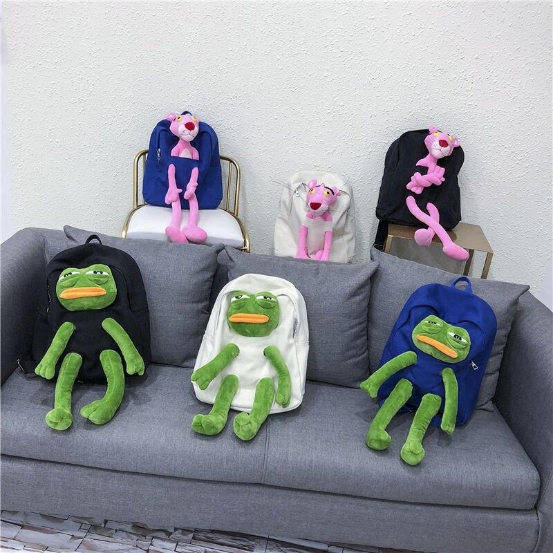Anime Naruto Frog Japanese And Korean Cartoon Art Personality Canvas Bag Cute Plush Doll Portable Messenger Bag Girls Handbag