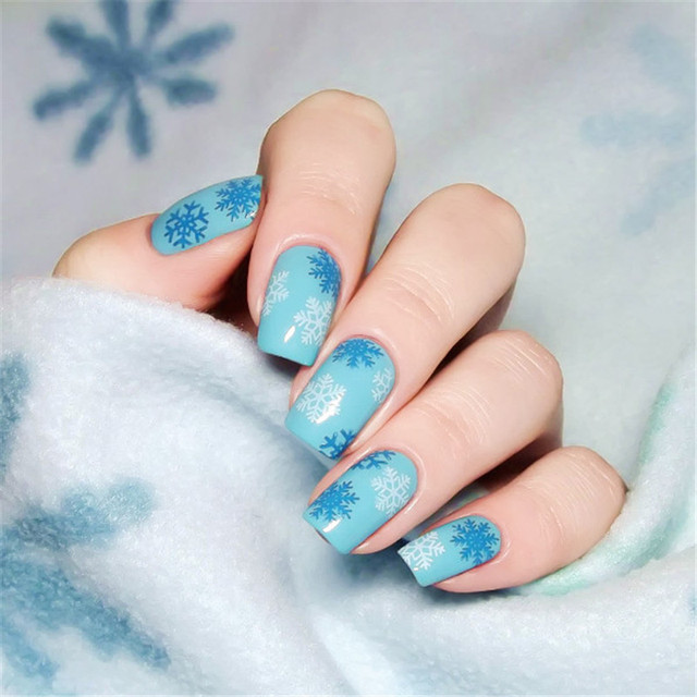 BORN PRETTY Christmas Rectangle Nail Stamping Template 12*6cm Manicure Image Plate Celebration BPX-L008
