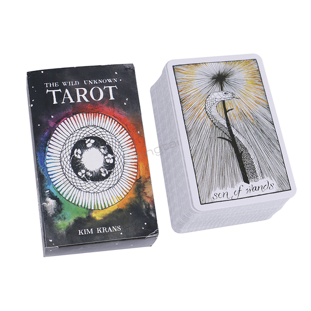 Tarot Cards Mystic Magical Animal Playing 78 Card Deck for Family Xmas Birthday Gift Board Game in Board Games from Sports Entertainment