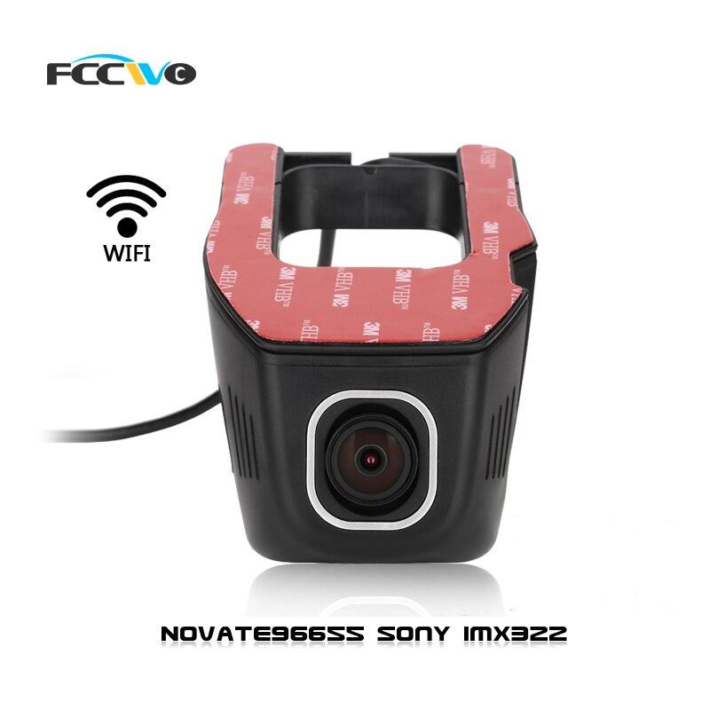 imágenes para FCCWO R1 Dash Cam Novatek 96655 Sony IMX322 WiFi 1080 P coche DVR Grabador de Vídeo Registrator auto cámara Dashcam dvr Dash cámara