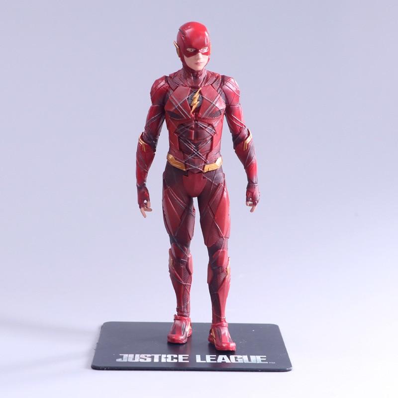 Huong Film Angka 17 Cm Justice League Flash Artfx + Patung 1/10 PVC Action Figure Model Hadiah Mainan Koleksi