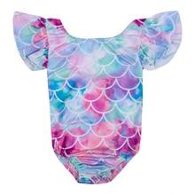 Cute Toddler Kids Baby Girls Fish Scale Mermaid Swimsuit Bikini Beachwear Romper Summer US