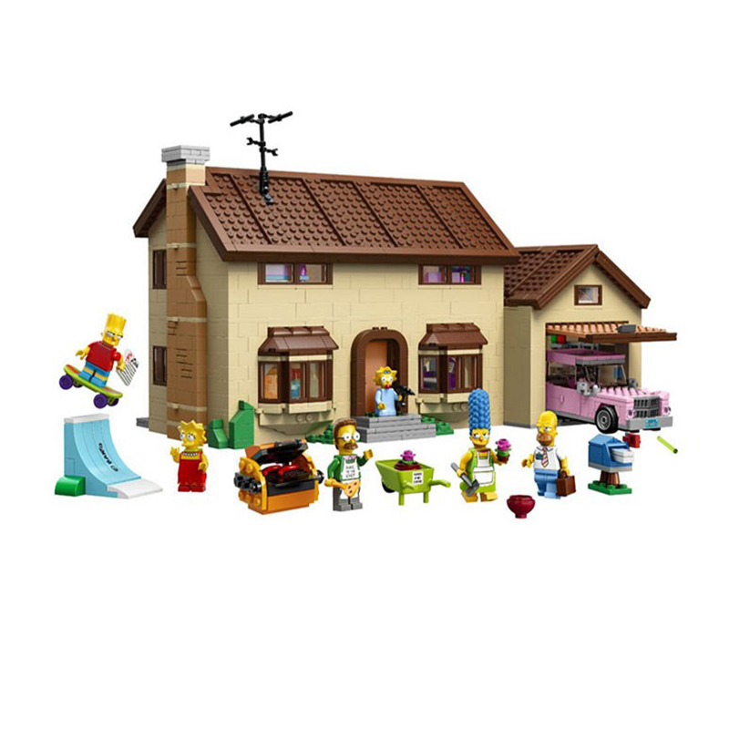 Nouveau 16005 2575 pièces les Simpsons maison modèle bloc de construction briques 71006 garçon cadeau legoed