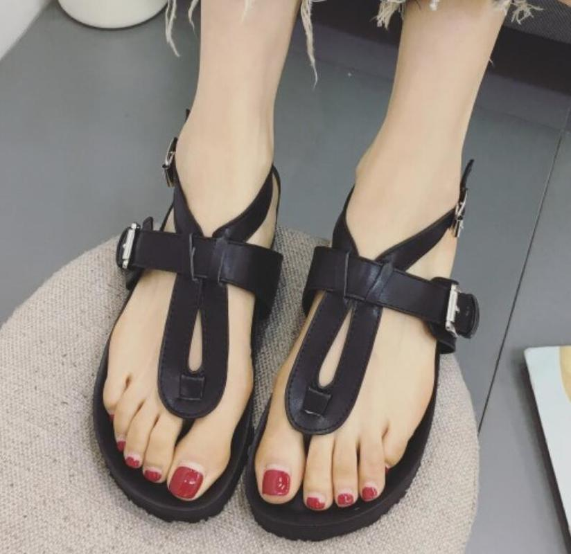 women flats flip slipper T-strap buckle ladies summer flat sandals sling back woman casual shoes chaussure Zapatos Mujer F180146 summer sandals women clogs beach slipper women shoes casual sneakers women flats sandals ladies shoes zapatos mujer