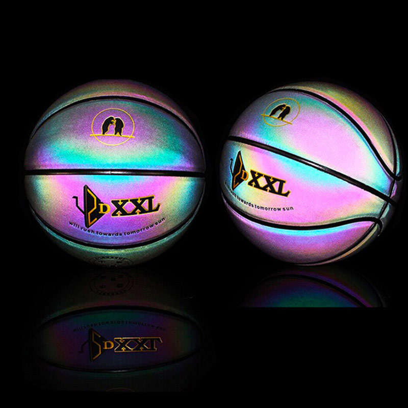 Rainbow Basketball for Men Luminous Colorful Indoor/Outdoor Game Ball B2Cshop