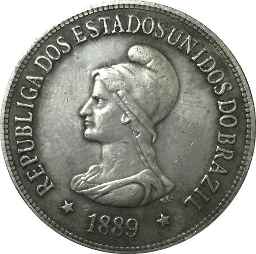 1889 Бразилия 1000 Reis Монеты Скопируйте Бесплатная доставка 30 мм