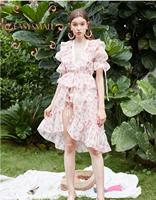 EASYSMALL For love lemons Women dress Fashion Country style high end Vestidos party evening streetwear High Waist short Dresses