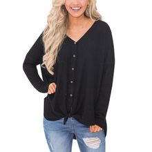 FREES HIPPING Knitted Sweaters Long Sleeve V-Neck JKP925