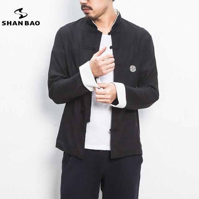 Duży rozmiar męska wysokiej jakości bawełniana i lniana koszula z długimi rękawami 2020 jesień oryginalny chiński styl casual shirt czarny beżowy