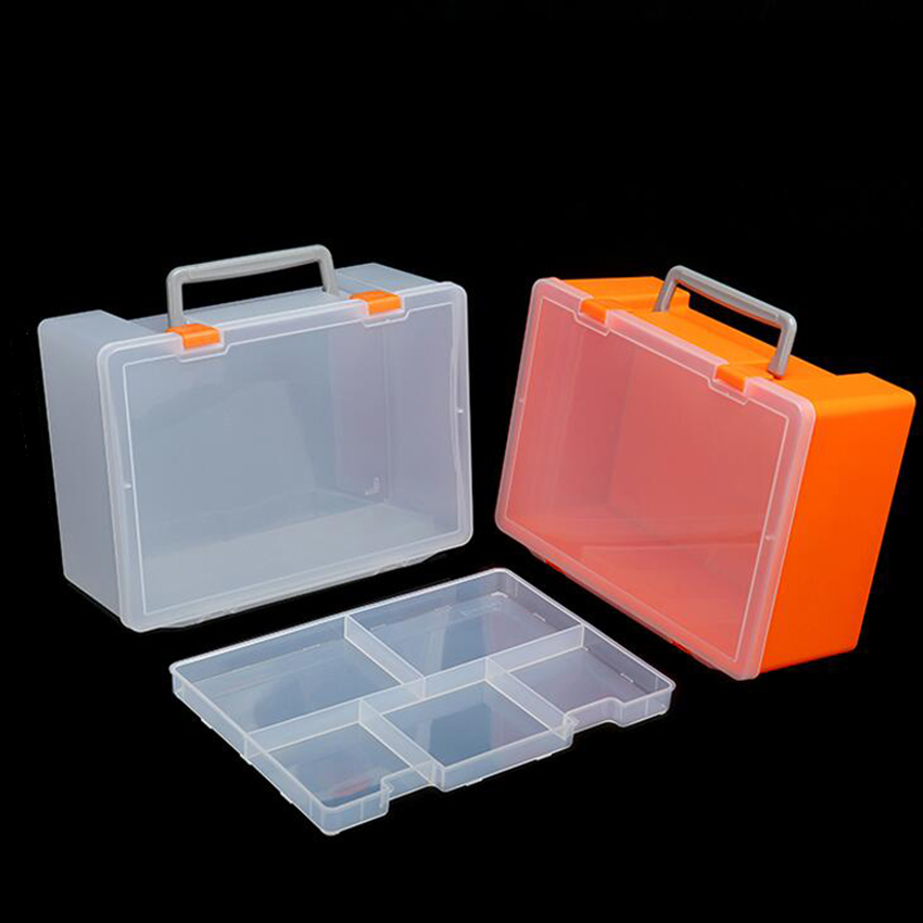 1PC New 1+5 Slots Cells Portable Jewelry Tool Box Container Electronic Parts Screw Beads Toy Book Clothes Component Storage Box