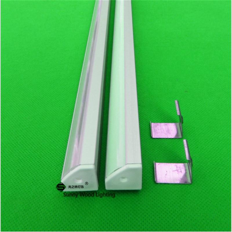 10-40set/lot  20-80m ,2m, 80inch /pc Triangle Corner Led Aluminium Profile For 12mm Pcb, Led Strip Channel, Aluminum Housing