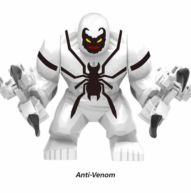 Bloco de Super-heróis Vingadores Marvel DC Batman Hulk Venom Rinoceronte Dogshank Darkseid Grodd Crianças Brinquedos Educativos