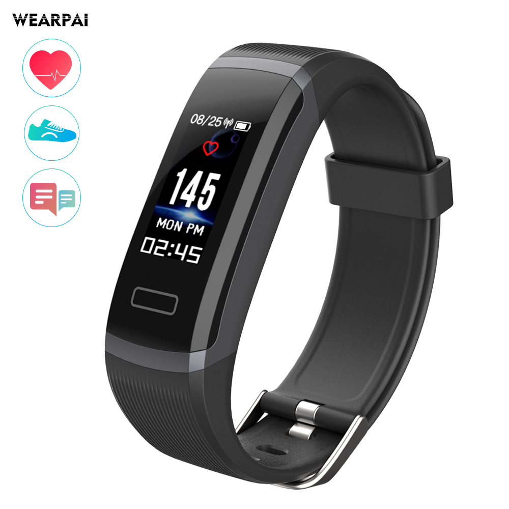 GT101 Fitness Tracker Watch TFT Color Screen Smart Wristband Smart Bracelet Fitness Tracker OLED Screen Heart Rate Monitor Clock
