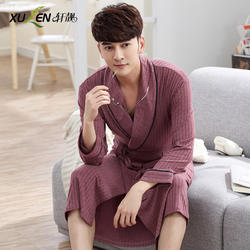 Для мужчин модал кимоно халат Весна Дома спальный халат большие размеры сна и гостиная Жених ночной халат