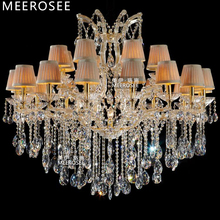 Luxurious Crystal Maria Theresa Chandelier Large Golden Clear Light Lustre 24 Lamp for Lobby Hotel Project