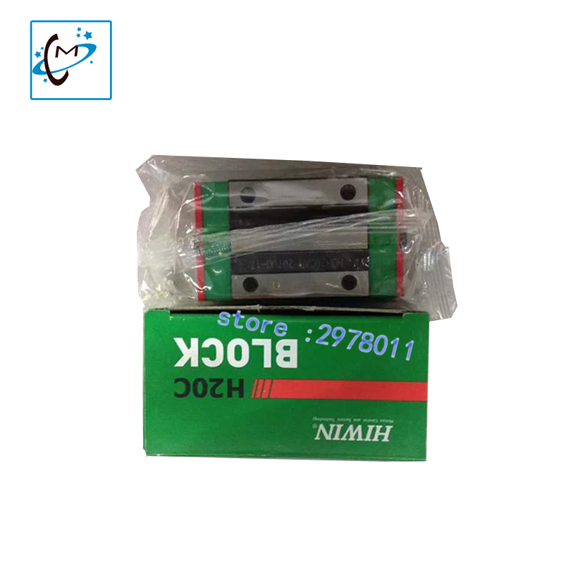 wholesale 1pc digital printing machine spare parts of block slider EG20CA linear guide block bearing for selling yamaha pneumatic cl 16mm feeder kw1 m3200 10x feeder for smt chip mounter pick and place machine spare parts