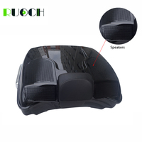 Motorcycle Accessories Tour Pack Pak Trunk Double Speakers Grill w/ Backrest For Harley Touring Road Eletra Street Glide 14 18