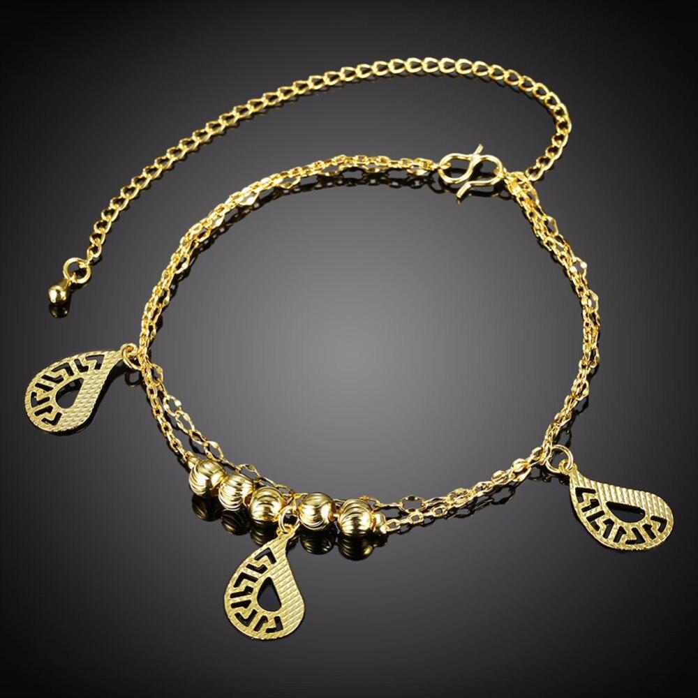 Символ три подвески Ножные браслеты Средства ухода за кожей стоп одежда летние изделия Девушки подарки из чистого серебра 925 безопасный дли...