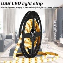 Waterproof Strip LED TV USB Fita Ribbon Light 5V Flexible Tape Backlight Lighting Cabinet Lamp 50cm 1m 2m 3m 4m 5m